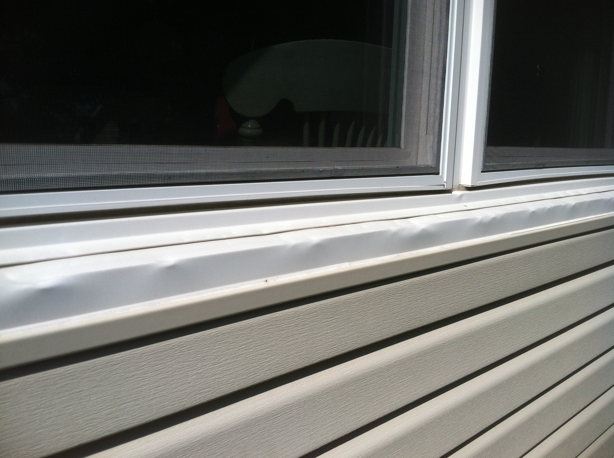 Hail Damaged Window Frame Midlands Siding Co Omaha Ne